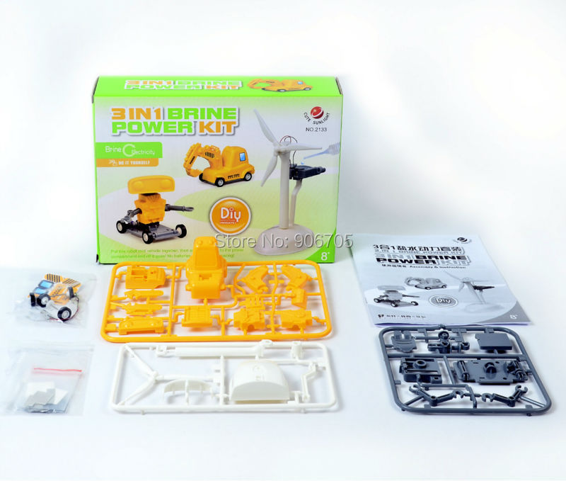 3 in 1 brine salt water power toy educational font b science b font kits unit
