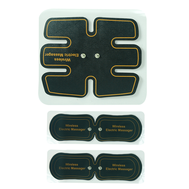 Replacement Electrodes 1pc Abdomen Pad and 2pcs Arm Pads For ABS Fit Muscle Stimulator Massager