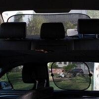 5 Sets Coche Ventana Lateral Neta Sombrillas Trasera Auto Hilo de Vidrio Bloque de sombra Súper Aislamiento Caliente Anti Sun del Visera Del Protector Cubierta de la Película