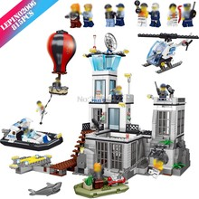 Marine police Legoing City Police prison island Model Legoings Military City Figures Building Blocks Kids Toys for children Gift(China)