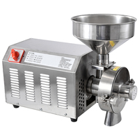 High efficiency commercial Grain Grinder,stainless steelgrinding machine for spices/corn/soybean 20 40KG/h 1420r min 2500W/3000W