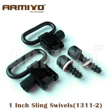 "Armiyo Tactical 1 ""1 pulgada 25.4mm Rifle Gun Sling Swivel Wood Screws Fit La mayoría de los pernos de madera Accesorios de caza 1311-2"