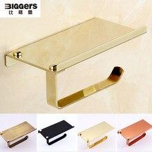Biggers 304 держатель рулона туалетной бумаги из нержавеющей стали держатель для телефона Полка античная бронза Держатель рулона ткани для ванной комнаты