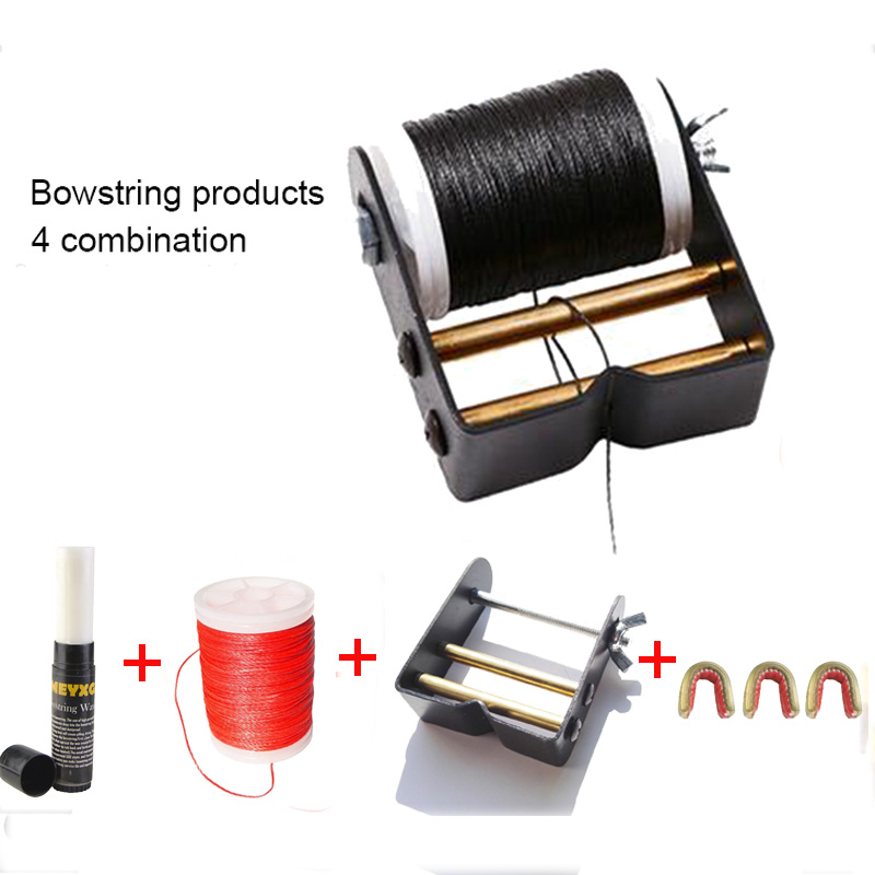 Archery Bow String 4 Combination Material +Bowstring Serving Tool +Bow Strings Wax+Archery Accessory
