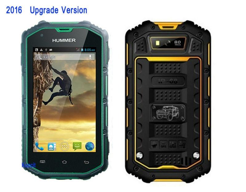 Цена за IP67 Водонепроницаемый телефон Пыле Противоударный Прочный Android 5.1 Смартфон Hummer H5 MTK6582 Quad Core 1 ГБ ОПЕРАТИВНОЙ ПАМЯТИ Мобильного Телефона GPS