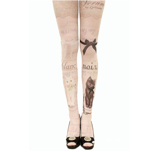 Tights With Various Print For Women