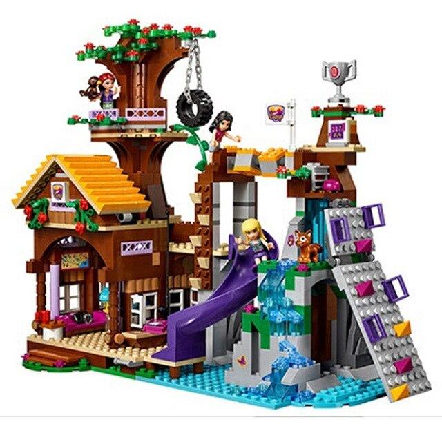 Amis blocs de construction aventure Camp arbre maison Emma Mia Figure Compatible Lep 41122 série meilleur cadeau