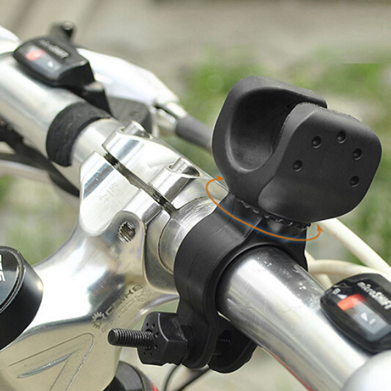 Outdoor Cycling Bicycle 360 Degree Rotary <font><b>Bike</b></font> Clip <font><b>Holder</b></font> Bracket for Flashlight Lamp Bicycle Front <font><b>Light</b></font> Support image