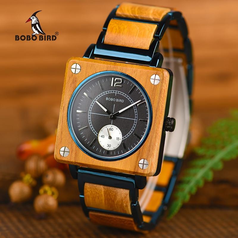 a8283cb2c7d BOBO PÁSSARO Top Homens Elegantes Relógios de Marca de Luxo Mulheres Relógio  de Quartzo Relogio masculino relogio feminino Grande Presente Relógios W-R14