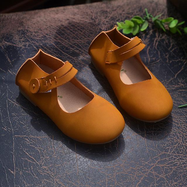 Calidad superior de cuero Genuino Niños Zapatillas de gamuza Niñas ballet zapatos Niñas Zapatos Ocasionales Del Envío libre
