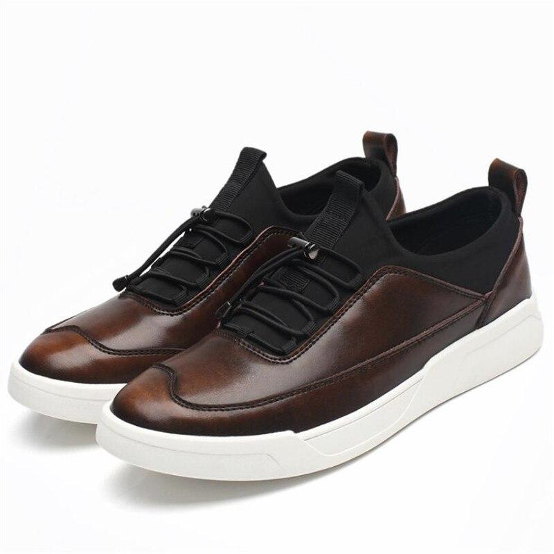 Moda Da Casual Homens Shoes Loafers Me Chaussure On 3 2 Homme 1 Macios Couro Inverno Sapatos De Slip Meil fRxInq5wR