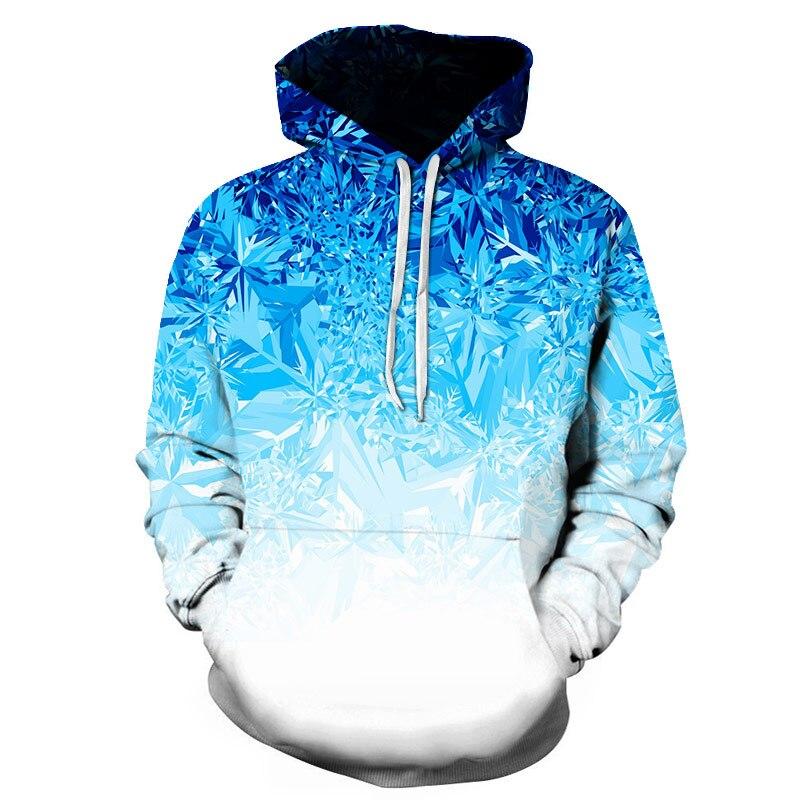 3D Digital Print Blue Ice Sculptures Off Whitemystery Universe Sweatshirt Ellesse-women Plain   Hoodie Sweat Homme Voltron Black
