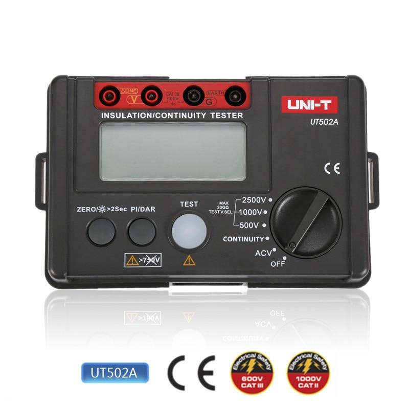 NEW 6 IN 1 UNI-T UT502A Insulation Resistance Tester Meter Megohmmeter Voltmeter Continuity