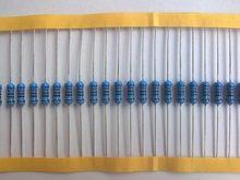 100 pces 1k ohm 1/4 w 1k resistor de filme de metal 1kohm 0.25 w 1% rohs