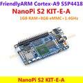 S5P4418 Quad Core Cortex-A9 NanoPi S2 (1 ГБ RAM, 8 ГБ eMMC, 1.4 ГГц) + USB кабель = NanoPi S2 KIT-E-A (Работает u-boot, Android5.1, Debian8)