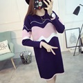 Maternity Dress Autumn Winter Dresses for Pregnant Women Bottoming sweaters Loose Long Maternity Clothing Pregnancy Clothes
