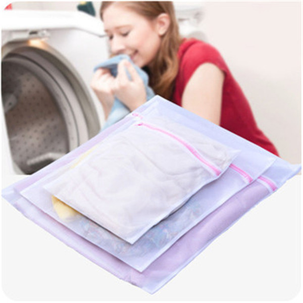 Zippered Mesh Laundry Wash Bags For Delicates Lingerie Socks Underwear Special Mesh Bag For Washing Machine Travel Receive Bag