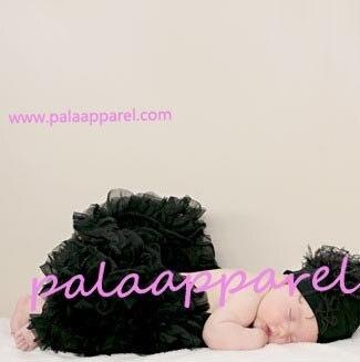 Новорожденный фотографии реквизит ребенка юбка для девочек юбки Pettiskirts шифоновое летнее одежда для малышей - Цвет: Черный