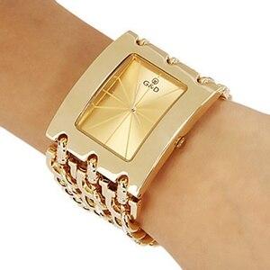 Image 1 - Brand New 2017 Stainless steel Chain fashion gold watch women wristwatches quartz watch watches