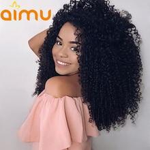 13X6 предварительно выщипать афро кудрявый вьющиеся Синтетические волосы на кружеве парик с волосами младенца 250 плотность бразильские волос, парики, кружева для черный Для женщин