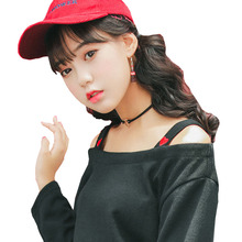 2017 Casual T Shirt Women Blusa Womens Long Sleeve Square Collar Girl T-shirt Tops Harajuku Cotton Heart EmbroideryTshirt Female