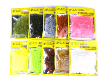 Купить с кэшбэком 500Pcs/Pack Soft Fishing Lures 0.6g 55mm Artificial Bait fly Soft Worm Silicone Bait Fishing Tackle Wobblers