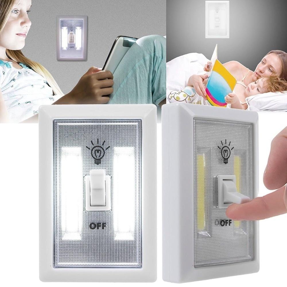 Litwod z90 4 w COB lampada LED applique murale en plastique mur lampe de chevet chambre mur lampes art lecture lumière éclairage de secours