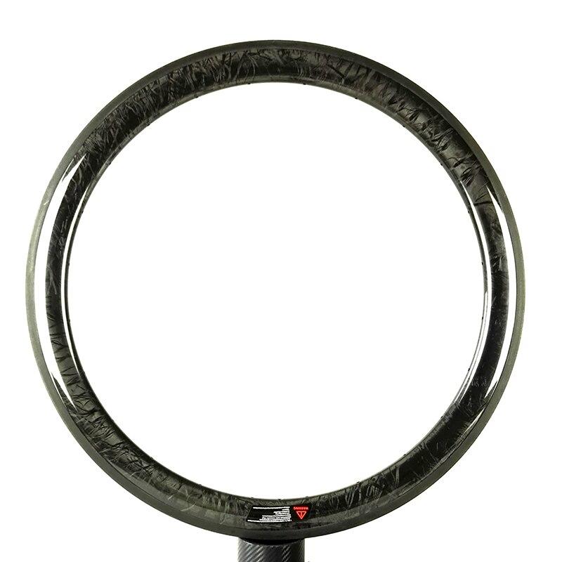 NEW Exterior 700C 50mm depth 25mm width Carbon wheels Clincher Tubular Road bike single Rim glossy