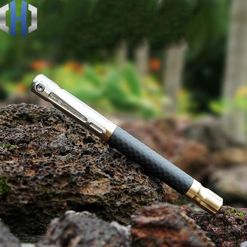 Original Titanium Pen Writing Pen Business Office With Multi-function EDC Carbon Fiber Metal Pen