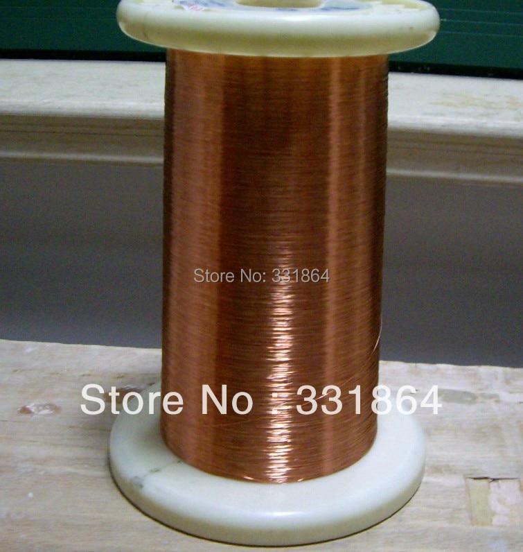 Specifikacijos: skersmuo 0.1mm * 1000 m / vnt QA-1-155 Magnetinės vielos emaliuotas varinės vielos magnetinis ritės vyniojimas Nemokamas pristatymas
