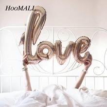 Hoomall 1 PC carta de amor globos decoración bolas inflables Año Nuevo boda globos de aire decoración regalo suministros para fiestas