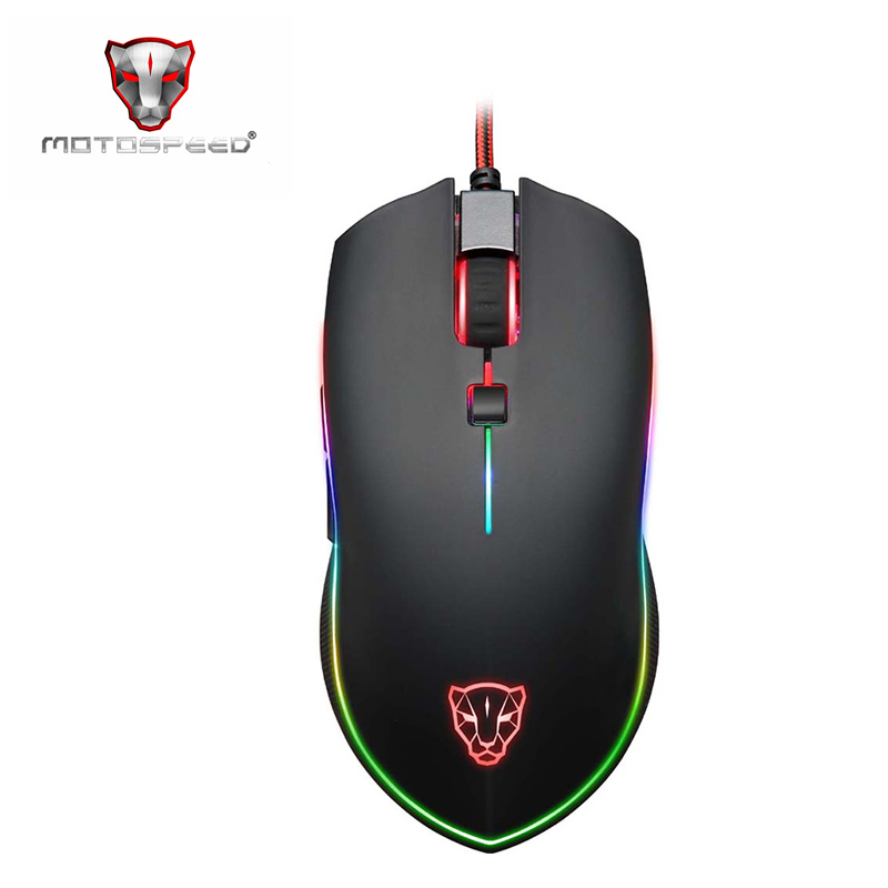 Motospeed V40 Programmable 4000 DPI Gaming Gamer Mouse USB Computer Laptop PC Wried Optical Mause Backlit Breathe LED for PC motospeed v2 high precision usb 2 0 wired gaming optical mouse black