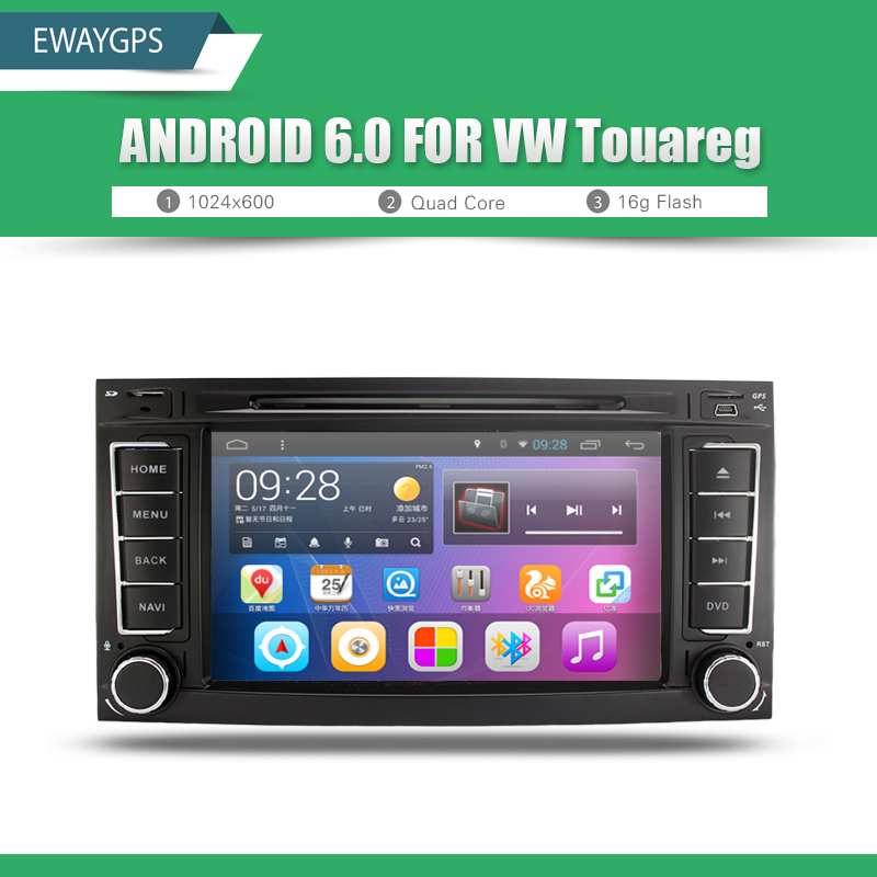 imágenes para Android 6.0 1024*600 Quad Core Coches Reproductor de DVD Estéreo DEL GPS de Navegación Para Volkswagen TOUAREG T5 Multivan Envío gratis EW845P6QH