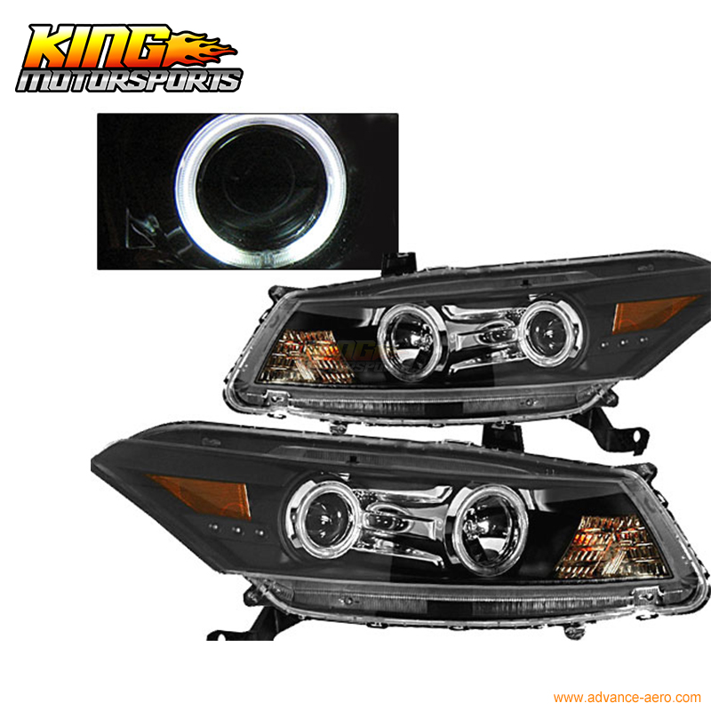 For 2008-2009 Honda Accord 2Dr CCFL Halo Projector Headlight BK USA Domestic Free Shipping for 2003 2005 honda accord 2dr led tail lights black 2004 usa domestic free shipping