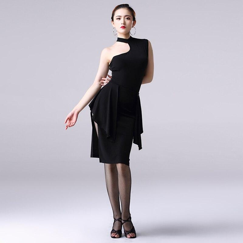 Fashion Black Latin Dance Skirt Sale For Women Sexy Split Half-Length Dance Skirt Ballroom Cha Cha Rumba Samba For Female DL3993