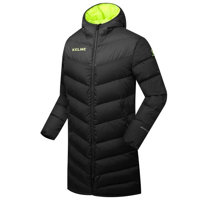 07c396d3596 Venta al por mayor Kelme K090 hombres largo con capucha invierno mantener  caliente abrigo entrenamiento deporte