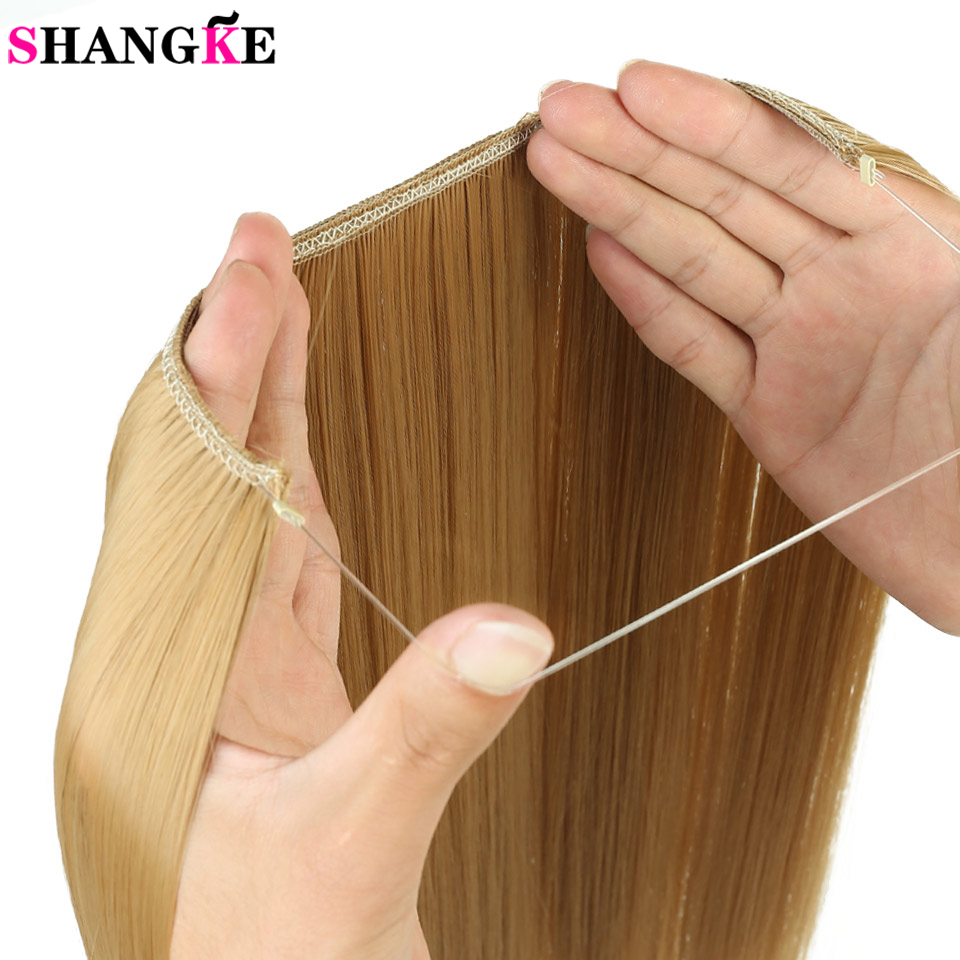 Hot Sale Shangke 24 Inches Invisible Wire No Clips In Hair