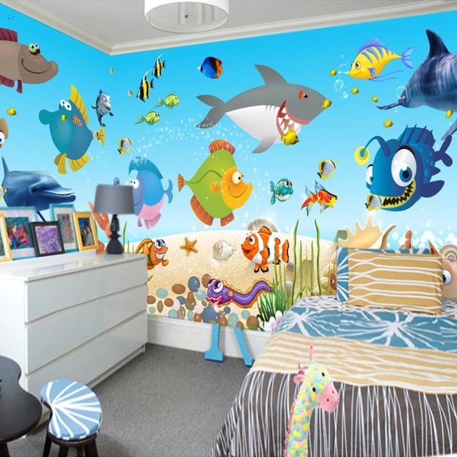 Murales de papel pintado personalizado mundo submarino de - Papel pintado para ninos ...