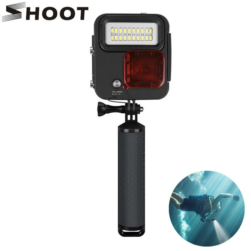SHOOT 1000LM plongée lumière LED boîtier étanche pour GoPro Hero 7 6 5 noir 4 3 + argent boîtier étanche Action caméra accessoire