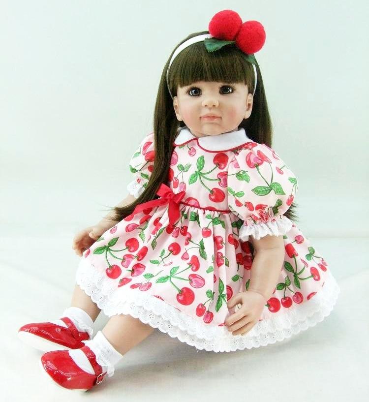 Silicone Reborn Baby Doll Toys 55cm Vinyl Princess Toddler Dolls Kids Birthday Present Gift Play House Toy Girls Brinquedos