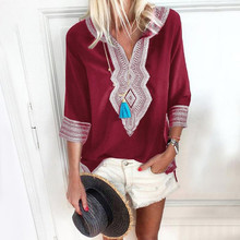 Summer Fashion National Style Print Blouse