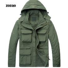 ZOEQO новая Брендовая верхняя одежда военная куртка мужская водонепроницаемая тактическая софтшелл пальто толстовки пальто куртки, съемный рукав
