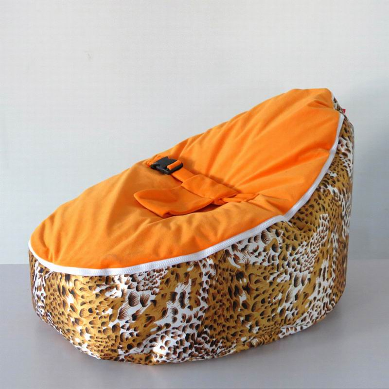 Free Shipping Disco Convertible  Baby Beanbag Chair, Two Tops Baby Beanbags Cover Only Orange