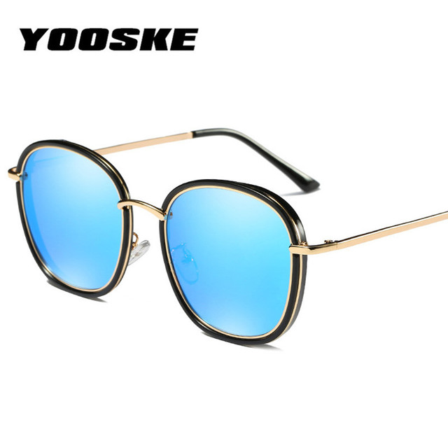 10be50e4a71 YOOSKE Round Polarized Sunglasses Women Men Vintage Oversized Sun Glasses  Luxury Brand Designer Color lenses Eyeglasses