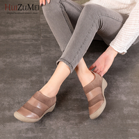 HUIZUMEI Boots for WoHandmade Ankle Boots Slip on Retro Boots Shoes Women Fashion Soft Genuine Leather Martin men.