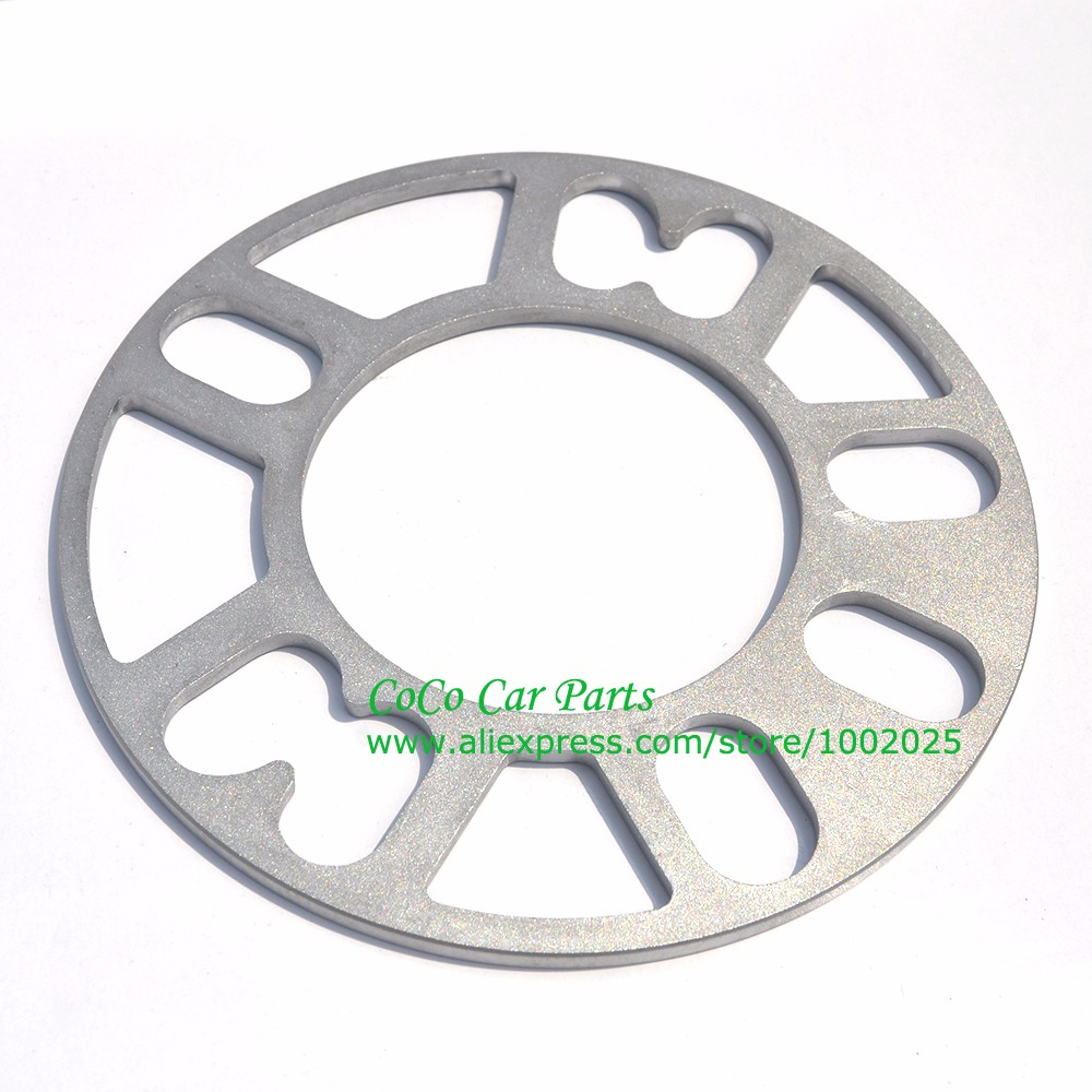 Image 2 - 2PCS Universal Alloy Aluminum Wheel Spacer Shims Plate 4 5 STUD 3mm 5mm 8mm 10mm FIT 4x100 4x114.3 5x100 5x108 5x114.3 5x120-in Tire Accessories from Automobiles & Motorcycles
