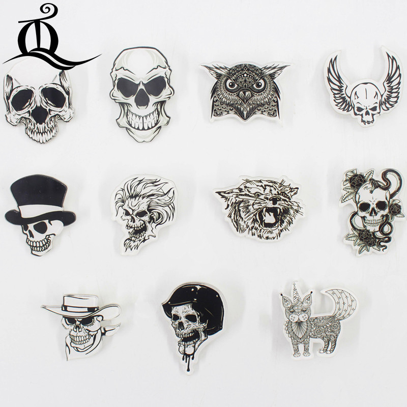 Home & Garden Badges Generous Fashion Lol 1 Pcs Painting Cartoon Mix Skeleton For Clothing Acrylic Badges Kawaii Icons On The Backpack Pin Brooch Badge Z25