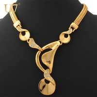 2014 Statement Necklace Women Gift 18K Real Gold Plated Fashion Jewelry Wholesale New Trendy Big Size