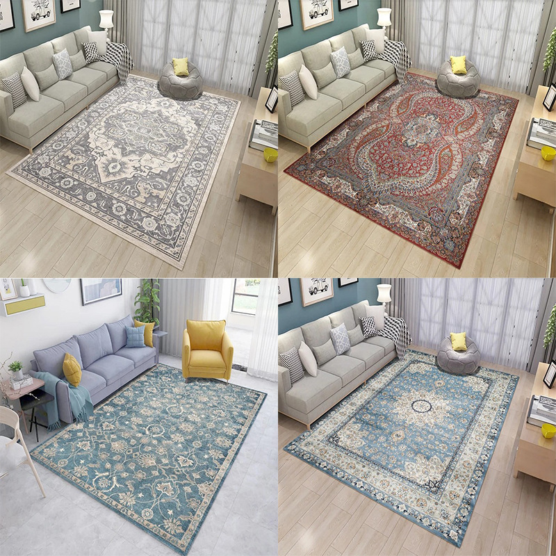 Classical European Style Carpets For Living Room Bedroom Rugs Delicate Polyester Carpet Home Floor Door Mat Simple Area Rugs Mat Carpet     - title=