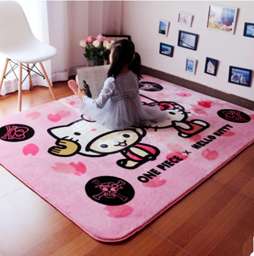 Free Shipping Lovely Kids Girl Lovely Mickey Mouse Pink Game Carpet Eco Free Slip Bedroom Carpet Size 150X200CM